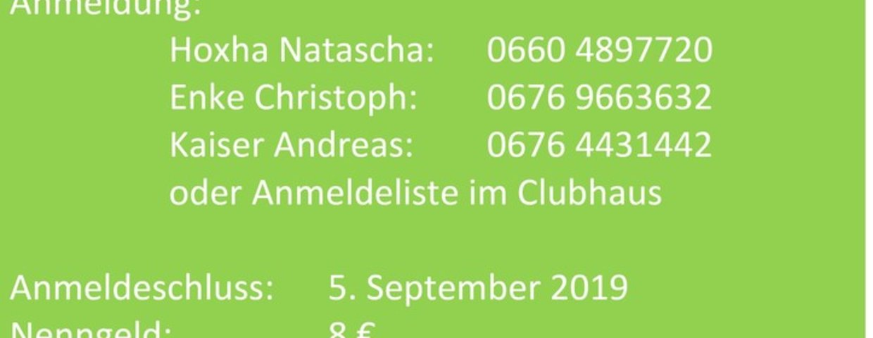 Clubmeisterschaft 07. bis 15.September